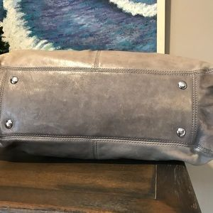 Coach Bags - Coach Grey Distressed all Leather bag
